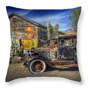 300 Miles Of Desert Throw Pillow