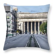 30th Street Station From Jfk Blvd Throw Pillow