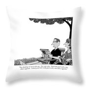 You Should Go Sit Out In The Sun.  Get Some Throw Pillow