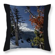 Mt Hood From Lookout Mtn Throw Pillow