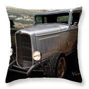 32 5 Window Coupe Rainy Day Cruise Throw Pillow