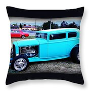 32 Ford Victoria Two Door Throw Pillow