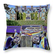 Psychedelic Classic Lagonda Throw Pillow