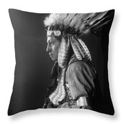 Sioux Native American, C1900 Throw Pillow
