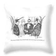 We All Moved To Brooklyn Throw Pillow