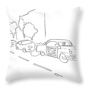 New Yorker January 16th, 2006 Throw Pillow