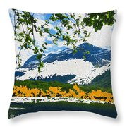 Norway  Landscape Throw Pillow
