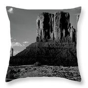 Rock Formations On A Landscape Throw Pillow