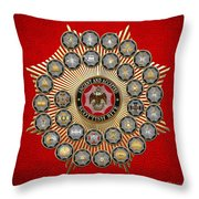 33 Scottish Rite Degrees On Red Leather Throw Pillow
