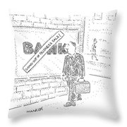 New Yorker March 31st, 2008 Throw Pillow