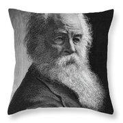 Walt Whitman (1819-1892) Throw Pillow