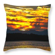 333 Marine Sunrise Throw Pillow