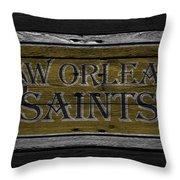 New Orleans Saints Throw Pillow