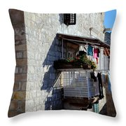 Views Of Dubrovnik Croatia Throw Pillow