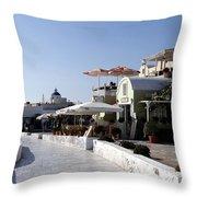 Views Of Santorini Greece Throw Pillow