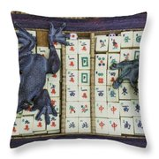 3446-colored Photo 1 Throw Pillow