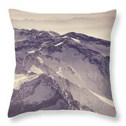 3.478 Meters Aerial Retro Throw Pillow