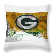 Green Bay Packers Throw Pillow
