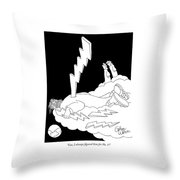 Gee, I Always Figured Him For No. 1! Throw Pillow