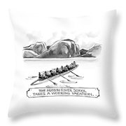 The Hudson River School Takes A Working Vacation Throw Pillow