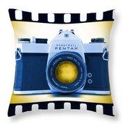 35mm Blues Pentax Spotmatic Throw Pillow