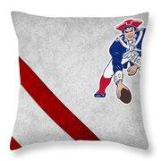 New England Patriots Throw Pillow