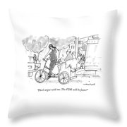 Don't Argue With Me. The Fdr Will Be Faster! Throw Pillow