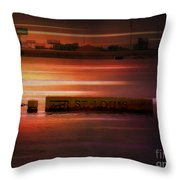 37 Feet Past Flood Stage 2 Throw Pillow