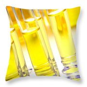 Laboratory Test Tubes In Science Research Lab Throw Pillow