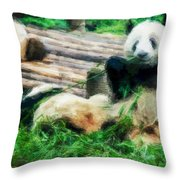 3722-panda -  Neo Throw Pillow