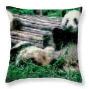 3722-panda -  Pastel Chalk 1 Throw Pillow