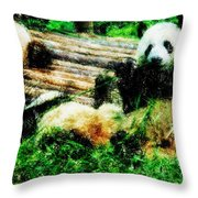 3722-panda -  Pastel Pencils Throw Pillow