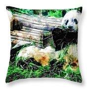3722-panda -  Plein Air 1 Sl Throw Pillow