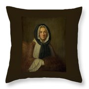 The Fontana Di S  Lucia In Naples Throw Pillow