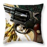 38 Revolver Throw Pillow