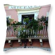 Views Of Taormina Sicily Throw Pillow