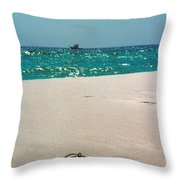 #384 33a Sandals On The Beach - Destin Florida Throw Pillow