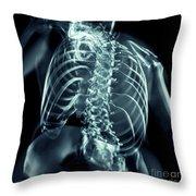 Bones Of The Upper Body Throw Pillow
