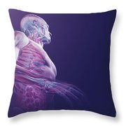 Human Anatomy Throw Pillow
