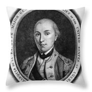 Marquis De Lafayette Throw Pillow