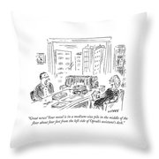 Great News! Your Novel Is In A Medium-size Pile Throw Pillow