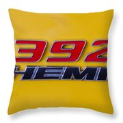 392 Hemi In Yellow Throw Pillow