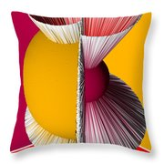 3d Abstract 16 Throw Pillow by Angelina Vick