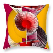 3d Abstract 18 Throw Pillow by Angelina Vick