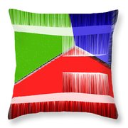 3d Abstract 3 Throw Pillow by Angelina Vick