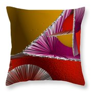 3d Abstract 6 Throw Pillow by Angelina Vick