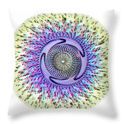 3d Abstract - Use Red_cyan 3d Glasses Throw Pillow