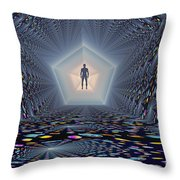 3d Concept Of How Mankind Will Use Throw Pillow