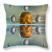 3d Concept Showing The Advancement Throw Pillow