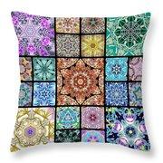 3d Cosmic Sample Grid Throw Pillow
